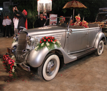 Ford Early V8 Convertible Silver