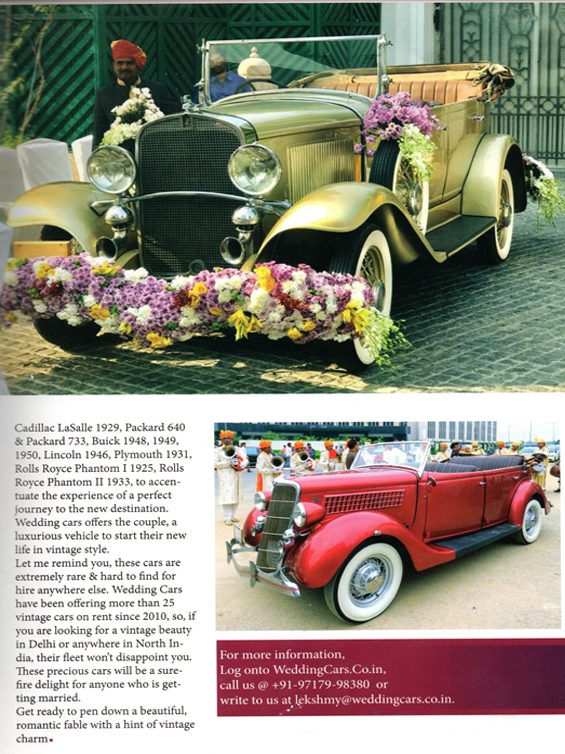 Wedding Car Rental Services In Delhi